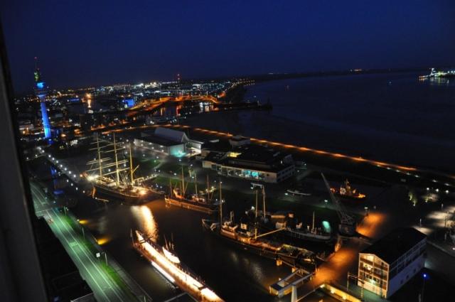 Blick vom Balkon Richtung Fischereihafen