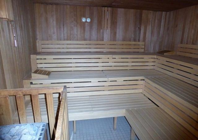 Sauna im 25. Stock