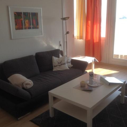 Sitzbereich möblierte Wohnung Havenblick