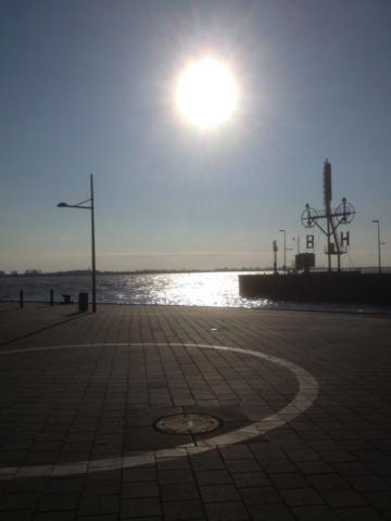 Einfahrt zum Sportboothafen