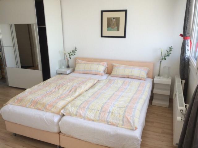 Schlafzimmer möblierte Wohnung Havenblick