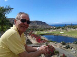 Über mich Didi auf dem Golfplatz